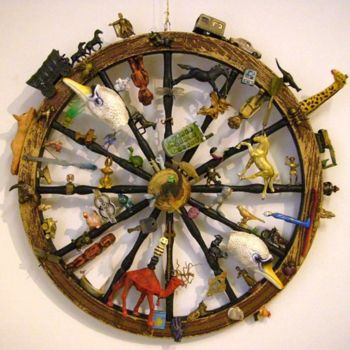 """Painting titled """"wheel of fortune"""" by Haje Holmström, Original Art,"""