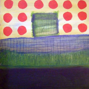 """Painting titled """"red dots"""" by Haje Holmström, Original Art,"""