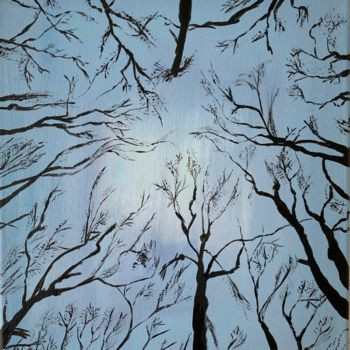 """Painting titled """"Up to the sky"""" by Hajnalka Fellmann, Original Art, Acrylic Mounted on Stretcher frame"""