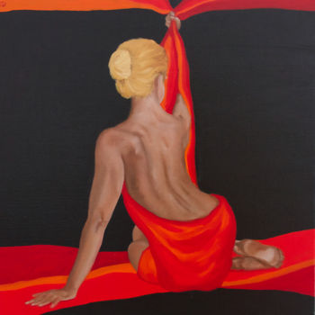 """Painting titled """"Wrapped"""" by Danielle Hameleers, Original Art, Oil Mounted on Stretcher frame"""