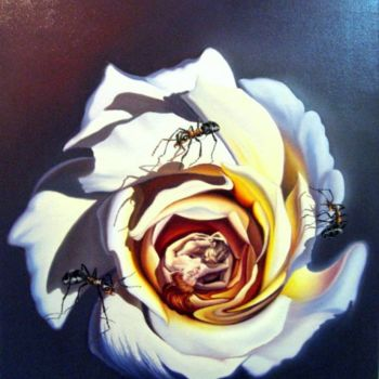 """Painting titled """"shivers of love - f…"""" by Gyuri Lohmuller, Original Art, Oil"""
