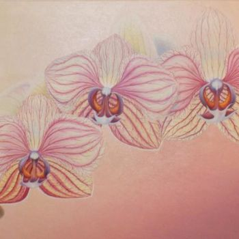 """Painting titled """"Orchid - Orchidee"""" by Gyuri Lohmuller, Original Art, Oil"""