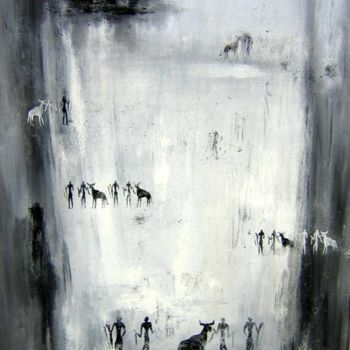 """Painting titled """"Ethnique"""" by Helene Rousselot, Original Art,"""