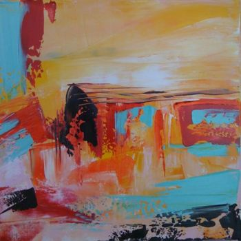 """Painting titled """"Canyon"""" by Helene Rousselot, Original Art,"""