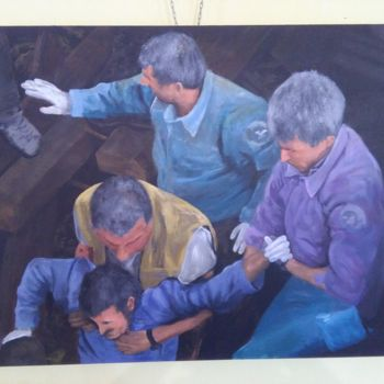 """Painting titled """"Heroes of Amatrice"""" by Heribert Wagner, Original Art, Acrylic"""