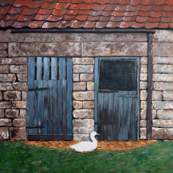 """Painting titled """"White Duck in front…"""" by Clement Tsang, Original Art, Acrylic"""