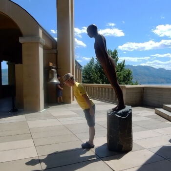 """Photography titled """"Me and Statue"""" by Clement Tsang, Original Art, Digital Photography"""