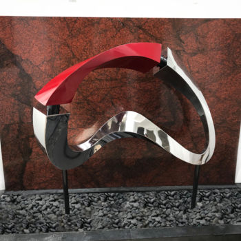 Sculpture, stainless steel, abstract, artwork by Hunter Brown