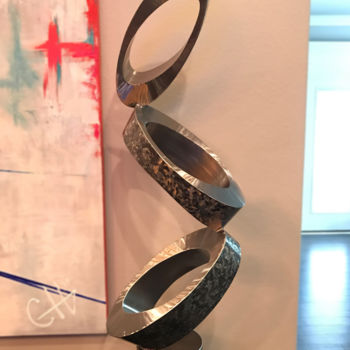 Sculpture, metals, abstract, artwork by Hunter Brown
