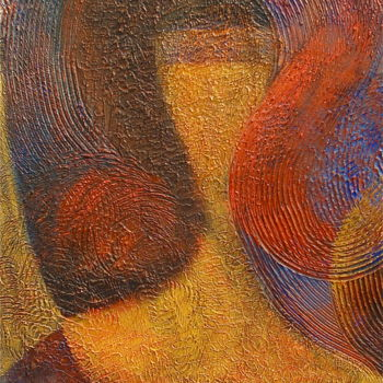"""Painting titled """"A Girl in a Curl"""" by Hemu Aggarwal, Original Art, Acrylic"""