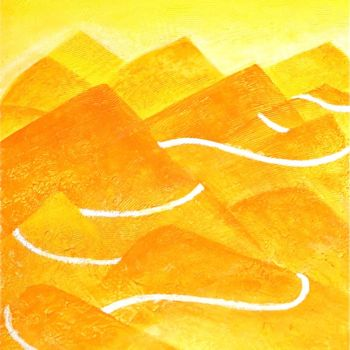 """Painting titled """"A lonely Trail"""" by Hemu Aggarwal, Original Art, Acrylic"""