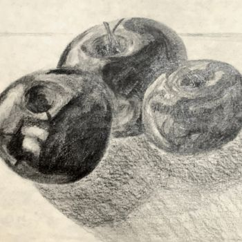 """Drawing titled """"Apples"""" by Igzotic, Original Art, Pencil"""