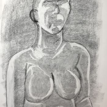 """Drawing titled """"Strength"""" by Igzotic, Original Art, Charcoal"""