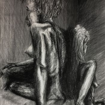 """Drawing titled """"Palmetto"""" by Igzotic, Original Art, Charcoal"""