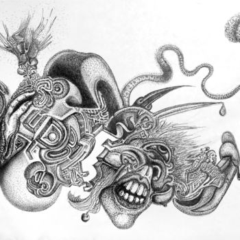 """Drawing titled """"Siafu"""" by Igzotic, Original Art,"""