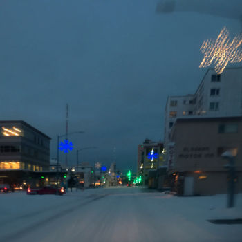 """Photography titled """"Snowflake Lights"""" by Igzotic, Original Art, Digital Photography"""