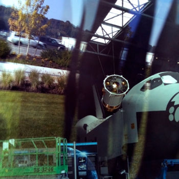"""Photography titled """"Shuttle In A Buildi…"""" by Igzotic, Original Art, Digital Photography"""