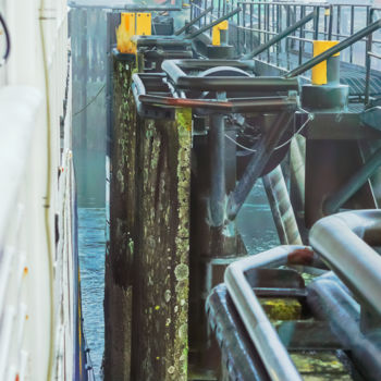 """Photography titled """"Ship Docking"""" by Igzotic, Original Art, Digital Photography"""