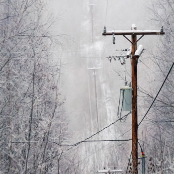 """Photography titled """"Power Lines"""" by Igzotic, Original Art, Digital Photography"""