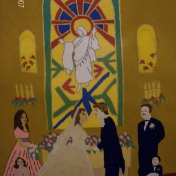 """Painting titled """"After The Ceremony"""" by Tonjua Lyles, Original Art,"""