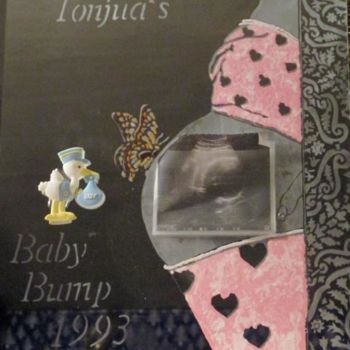 """Painting titled """"Baby Ultrasound Kee…"""" by Tonjua Lyles, Original Art, Other"""