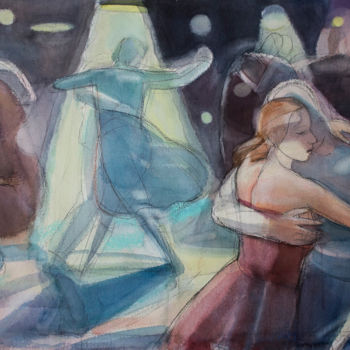 Painting, watercolor, artwork by Irena Luse