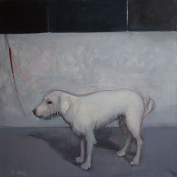 """Painting titled """"Sad dog"""" by Irena Luse, Original Art, Oil"""