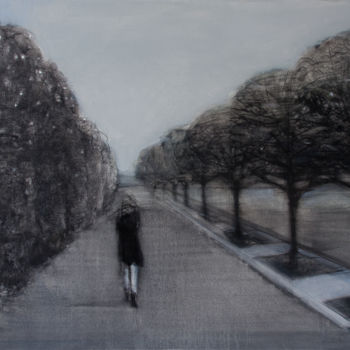 Painting, charcoal, figurative, artwork by Irena Luse
