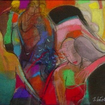 """Painting titled """"A Hug"""" by Irena Luse, Original Art,"""