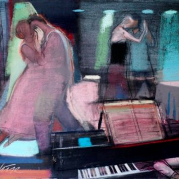 """Painting titled """"Piano"""" by Irena Luse, Original Art, Pastel"""