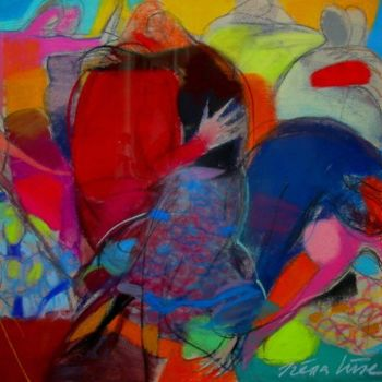 """Painting titled """"Happy dance"""" by Irena Luse, Original Art,"""