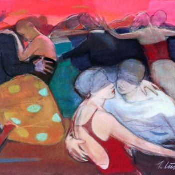 """Painting titled """"Red dance II"""" by Irena Luse, Original Art,"""
