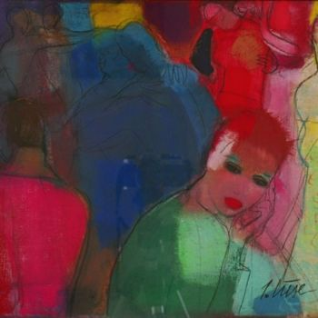 """Painting titled """"Party"""" by Irena Luse, Original Art,"""
