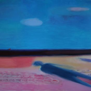 """Painting titled """"Footprints in the s…"""" by Irena Luse, Original Art, Oil"""