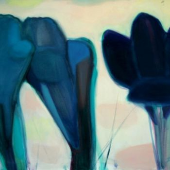 """Painting titled """"Three"""" by Irena Luse, Original Art,"""