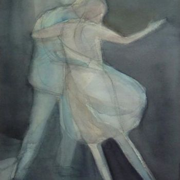 """Painting titled """"Dancers"""" by Irena Luse, Original Art, Watercolor"""