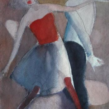 """Painting titled """"Dance"""" by Irena Luse, Original Art, Watercolor"""