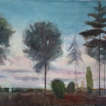 """Painting titled """"Landscape"""" by Irena Luse, Original Art,"""