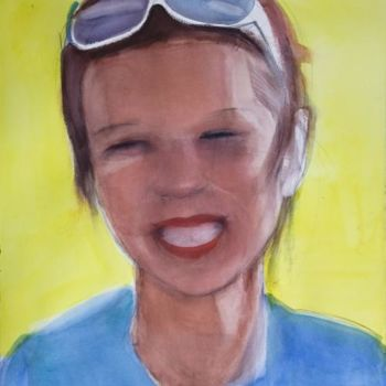 """Painting titled """"Smiling"""" by Irena Luse, Original Art, Watercolor"""