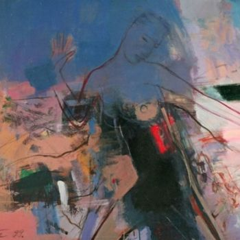 """Painting titled """"The running one"""" by Irena Luse, Original Art,"""