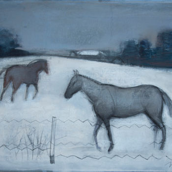 """Painting titled """"Winter"""" by Irena Luse, Original Art, Pastel"""