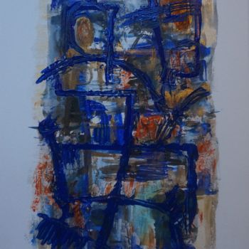 Painting, acrylic, abstract, artwork by Iris