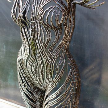 """Sculpture titled """"Waiting in the wint…"""" by Scott Wilkes, Original Art, Metals"""