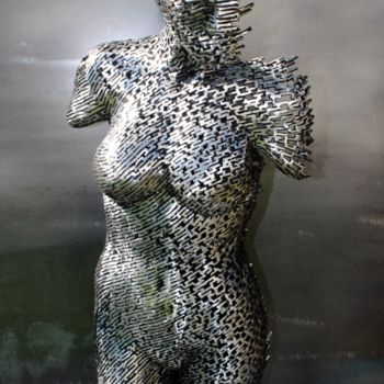 """Sculpture titled """"Fade in to static"""" by Scott Wilkes, Original Art, Metals"""