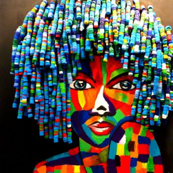 Sculpture, acrylic, outsider art, artwork by Isabelle Renou