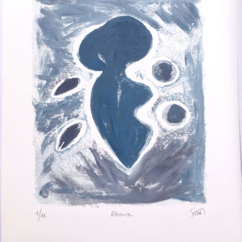 Printmaking, collagraphy, abstract, artwork by Isis Bi M