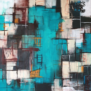 """Painting titled """"Connecting no. 3"""" by Iulia Paun, Original Art, Acrylic Mounted on Stretcher frame"""