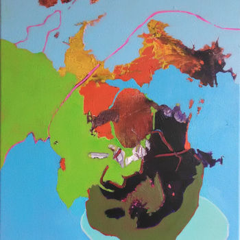 Painting, acrylic, abstract, artwork by Jacques Valette