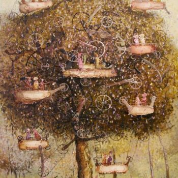 """Painting titled """"Swing"""" by Remigijus Januskevicius, Original Art, Oil"""