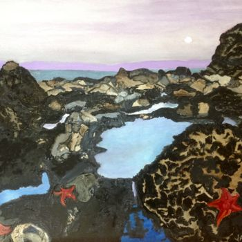 """Painting titled """"Tide pools at Chimn…"""" by Jan Wall, Original Art, Oil"""